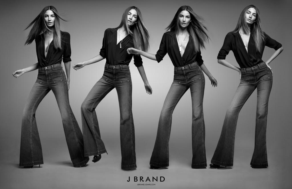 J BRAND Spring 2011 Campaign Lily Aldridge